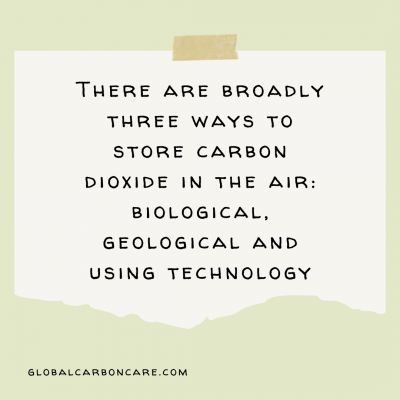 graphic of Ways to store Carbon Dioxide
